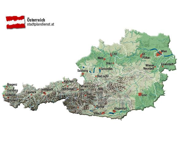 Karte Mit Hausnummern.Stadtplandienst At Stadtpläne Und Karten Für österreich